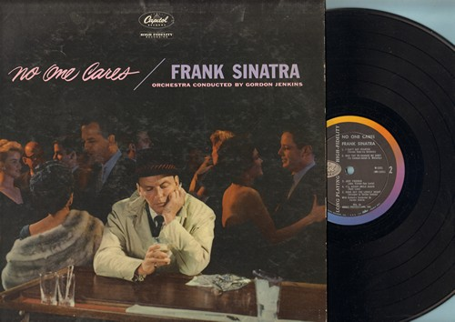 Sinatra, Frank - No One Cares: Stormy Weather, I'll Never Smile Again, A Cottage For Sale, Here's That Rainy Day (vinyl MONO LP record) - EX8/VG6 - LP Records