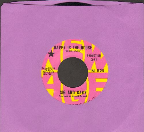Sig & Gary - Happy Is The House/A Place By The Fire (RARE DJ advance pressing of Psychedelic/Folk 2-sider!) - M10/ - 45 rpm Records