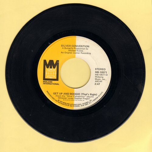 Silver Convention - Get Up And Boogie/Son Of A Gun (Euro-Disco hit - follow-up to Fly Robin Fly)  - EX8/ - 45 rpm Records