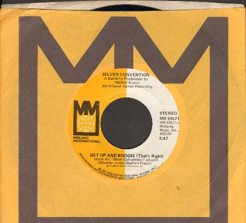 Silver Convention - Get Up And Boogie/Son Of A Gun (Disco-Club hit - follow-up to Fly Robin Fly) (with company sleeve) - NM9/ - 45 rpm Records