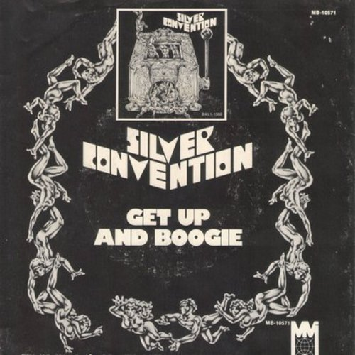 Silver Convention - Get Up And Boogie/Son Of A Gun (Disco-Club hit - follow-up to Fly Robin Fly) (with picture sleeve) - NM9/EX8 - 45 rpm Records