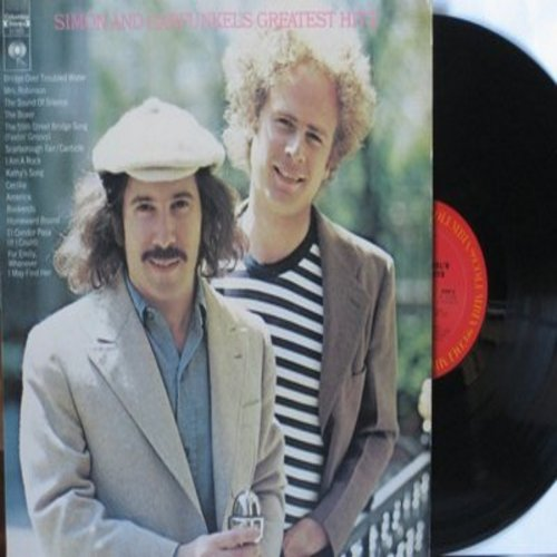 Simon & Garfunkel - Greatest Hits: Mrs. Robinson, The Boxer, The 59th Street Bridge Song (Feelin' Groovy), Cecilia, Homeward Bound, Sound Of Silence (vinyl STEREO LP record) - EX8/VG7 - LP Records