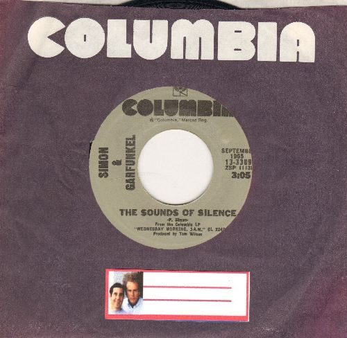 Simon & Garfunkel - The Sound Of Silence/Homeward Bound (double-hit re-issue with Columbia company sleeve) - NM9/ - 45 rpm Records