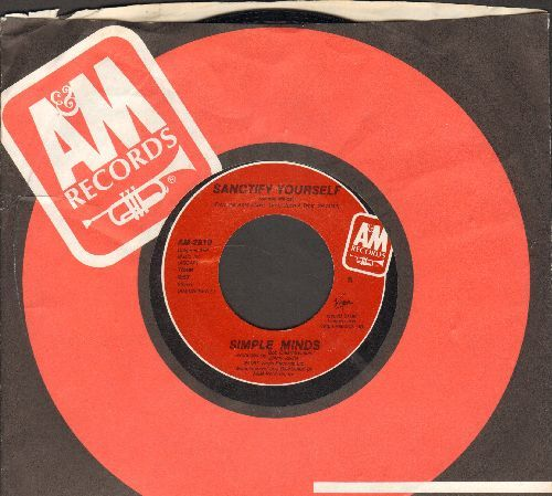 Simple Minds - Sanctify Yourself/Sanctify Yourself (Dub Version)(with A&M company sleeve) - NM9/ - 45 rpm Records