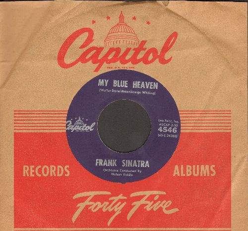 Sinatra, Frank - My Blue Heaven/Sentimental Baby (with vintage Capitol company sleeve) - EX8/ - 45 rpm Records