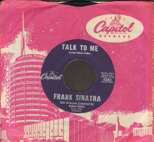 Sinatra, Frank - Talk To Me/They Came To Cordura (MINT condition with vintage Capitol company sleeve) - M10/ - 45 rpm Records