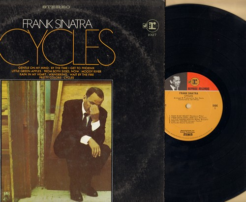 Sinatra, Frank - Cycles: Moon River, Little Green Apples, By The Time I Get To Phoenix, Gentle On My Mind (vinyl STEREO LP record) - EX8/EX8 - LP Records