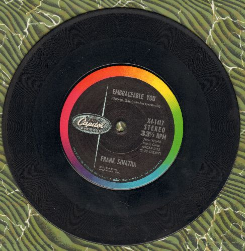Sinatra, Frank - Embraceable You/Try A Little Tenderness (RARE 7 inch 33 rpm STEREO record with small spindle hole) - VG7/ - 45 rpm Records