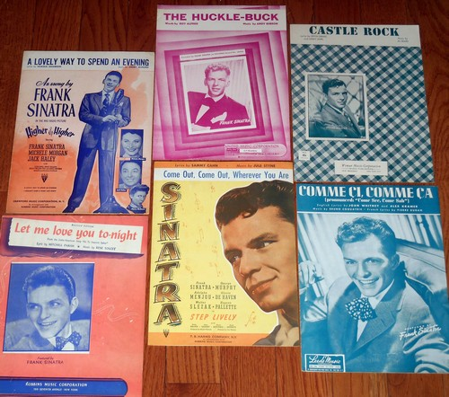 Sinatra, Frank - Vintage Sheet Music - Set of 6 (exactly as pictured!) by the Great Frank Sinatra! Originals from the 1940s and 50s. Suitable for framing! - EX8/ - Sheet Music