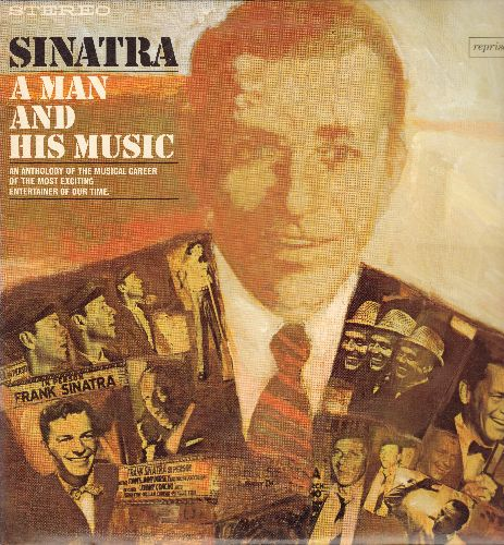 Sinatra, Frank - Sinatra - A Man And His Music: Night And Day, Come Fly With Me, Witchcraft, All The Way, Love And Marriage, Ring-A-Ding Ding (2 vinyl STEREO LP record set, gate-fold cover, NICE condition!) - NM9/NM9 - LP Records