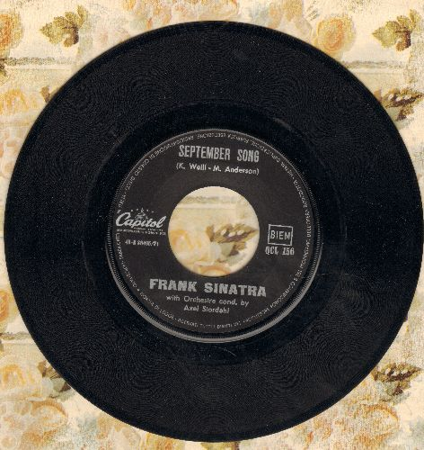 Sinatra, Frank - September Song/Laura (Italian Pressing, sung in English) - EX8/ - 45 rpm Records