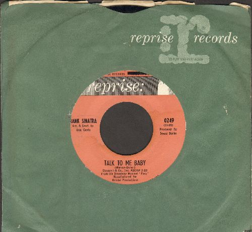 Sinatra, Frank - Talk To Me Baby/Stay With Me (with Reprise company sleeve) - NM9/ - 45 rpm Records