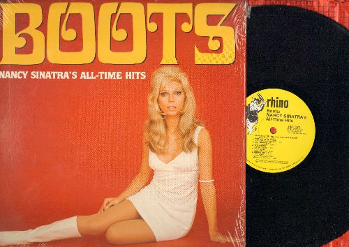 Sinatra, Nancy - Boots - Nancy Sinatra's All-Time Hits: Sugar Town, Somethin' Stupid, You Only Live Twice, Friday's Child (vinyl LP record, re-issue of vintage recordings) - NM9/NM9 - LP Records