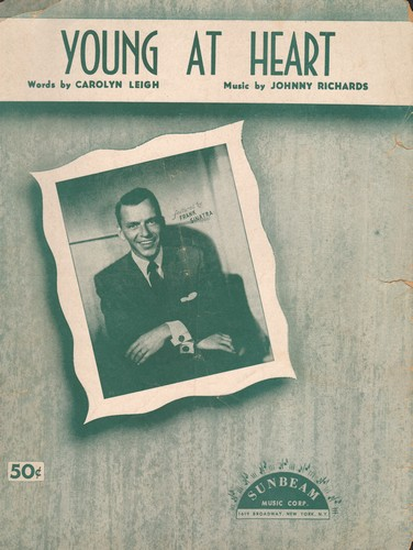 Sinatra, Frank - Young At Heart - Vintage SHEET MUSIC for the Standard made popular by Frank Sinatra - VG6/ - Sheet Music