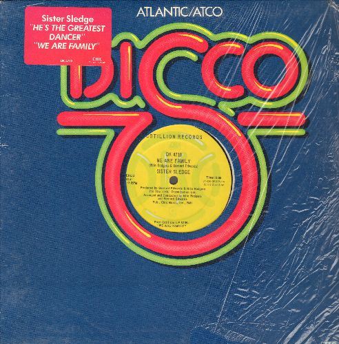 Sister Sledge - We Are Family (8:06 minutes Extended Disco Version)/He's The Greatest Dancer (6:04 minutes Extenced Disco Version) (12 inch vinyl Mxi Single with Atlantic/Atco company cover) - NM9/ - Maxi Singles