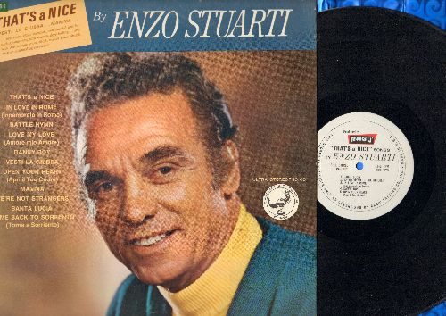 Stuarti, Enxo - That's A Nice by Enzo Stuarti: Danny Boy, Open Your Heart, Mamma, Santa Lucia, Come Back To Sorrento (vinyl LP record, Special Pressing for Ragu Co.) - NM9/NM9 - LP Records