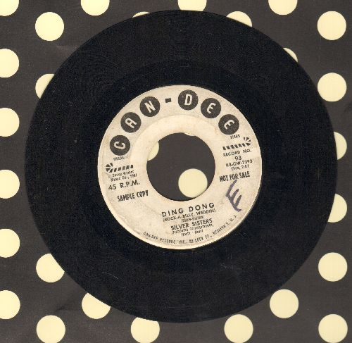 Silver Sisters - Ding Dong/Baby-Baby (Vintage Girl Sound 2-sider! - (DJ advance copy, wol) - VG7/ - 45 rpm Records
