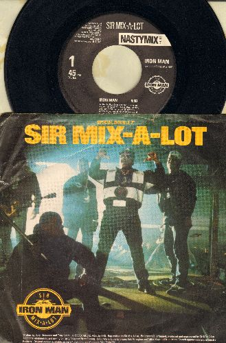 Sir Mix-A-Lot - Iron Man/I'll Roll You Up (with picture sleeve) - EX8/VG7 - 45 rpm Records