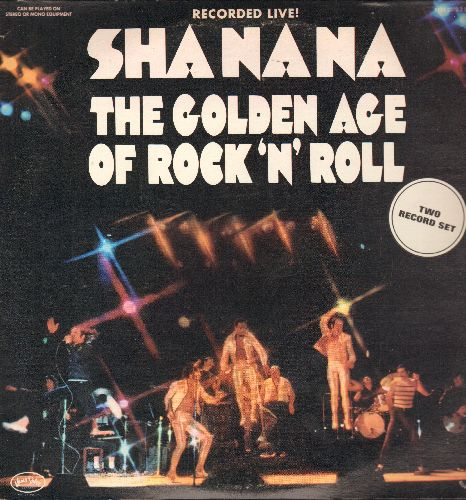 Sha Na Na - The Golden Age Of Rock'N'Roll - LIVE!: Why Do Fools Fall In Love, Blue Moon, Runaround Sue, At The Hop, Rama Lama Ding Dong (2 vinyl STEREO LP records) - NM9/EX8 - LP Records