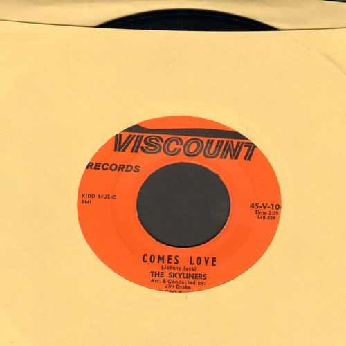 Skyliners - Comes Love/Tell Me - M10/ - 45 rpm Records
