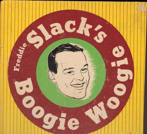 Slack, Freddie - Freddie Slack's Boogie Woogie: Original 1944 set of 4 78rpm records, in album. Records in very good condition, album in good condition, with cover taped. - VG7/G5 - 78 rpm