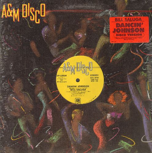 Saluga, Bill - Dancin' Johnson - 12 inch vinyl Maxi Single with 8:23 Extended Disco Version + 8:54 Instrumental Version  - NM9/ - Maxi Singles
