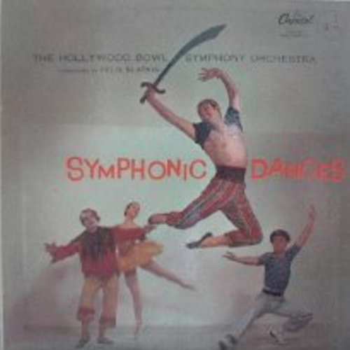 Hollywood Bowl Sympothy Orchestra - Symphonic Dances: Sabre Dance (featured in the 1961 Billy Wilder Classic -One, Two, Three-), Pavane for a Dead Princess, Bacchanale, Galop, Norwegian Dance No. 2, Sailor's Dance (vinyl LP record) - NM9/EX8 - LP Records
