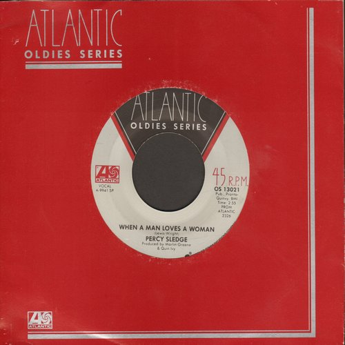 Sledge, Percy - When A Man Loves A Woman/Cover Me (double-hit re-issue) - NM9/ - 45 rpm Records