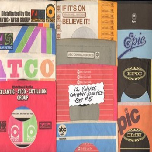 Company Sleeves - 12 Vintage Company Sleeves - Set #012-5 (exactly as pictured!) - Dress up your 7 inch vinyl records in original company sleeves of the 1950s & 60s. Good to excellent condition. - /EX8 - Supplies