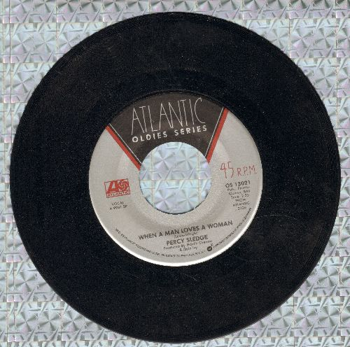 Sledge, Percy - When A Man Loves A Woman/Cover Me (double-hit re-issue) - VG7/ - 45 rpm Records