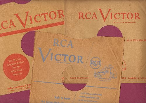 Company Sleeves - 3-Pack 10 inch vintage RCA company sleeves (exactly as pictured), shipped in 10 inch clear plastic sleeve. Enhances and protects you collectible records. - /EX8 - Supplies