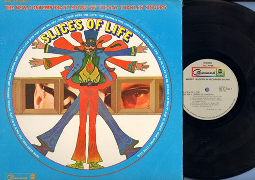 Charles, Ray Singers - Slices Of Life: Both Sides Now, I Love How You Love Me, Hey Jude, Those Were The Days (vinyl STEREO LP record, gate-fold cover) - NM9/VG7 - LP Records