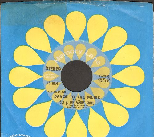 Sly & The Family Stone - Dance To The Music (featured in Disney film -Shrek-)/Life (double-hit re-issue with Epic company sleeve) - EX8/ - 45 rpm Records