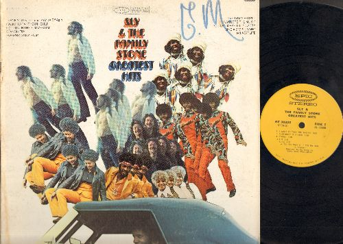Sly & The Family Stone - Greatest Hits: Dance To The Music, Stand!, Everybody Is A Star, Fun, Thank You (vinyl STEREO LP record, gate-fold cover, woc) - EX8/VG7 - LP Records
