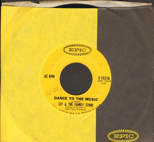Sly & The Family Stone - Dance To The Music (featured in Disney film -Shrek-)/Let Me Hear It From You (with Epic company sleeve) - VG7/ - 45 rpm Records