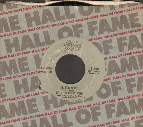 Sly & The Family Stone - Stand!/I Want To Take You Higher (re-issue with company sleeve) - NM9/ - 45 rpm Records
