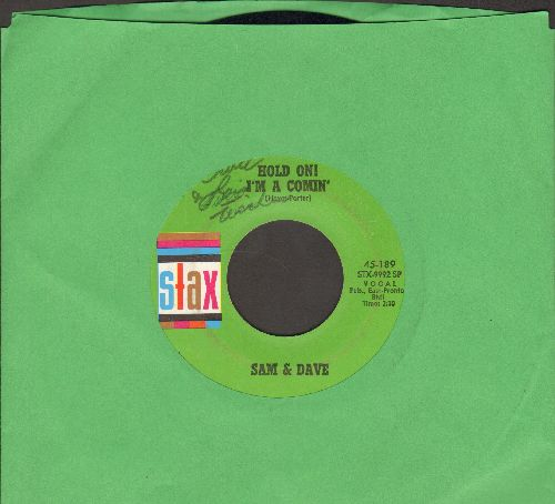 Sam & Dave - Hold On! I'm Comin'/I Got Everything I Need (green label, minor wol) - EX8/ - 45 rpm Records
