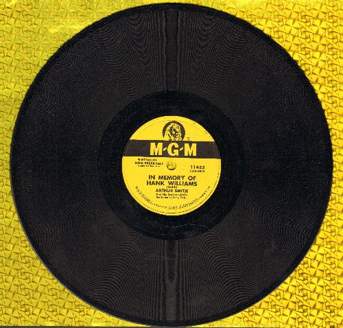 Smith, Arthur & His Cracker Jacks - In Memory Of Hank Williams/I'm Richer Than You (10 inch 78 rpm record) - EX8/ - 78 rpm