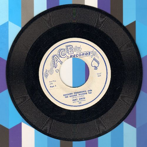Smith, Huey & His Clowns - Rocking Pneumonia And The Boogie Woogie Flu (Parts 1 + 2) - EX8/ - 45 rpm Records