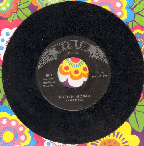 Sam & Dave - Hold On! I'm Comin'/Mercy Mercy (by Don Covay on flip-side) (re-issue) - EX8/ - 45 rpm Records