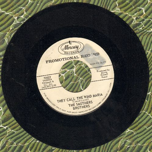 Smothers Brothers - They Call The Wind Maria/Fly Ezekiel (DJ advance pressing) - EX8/ - 45 rpm Records
