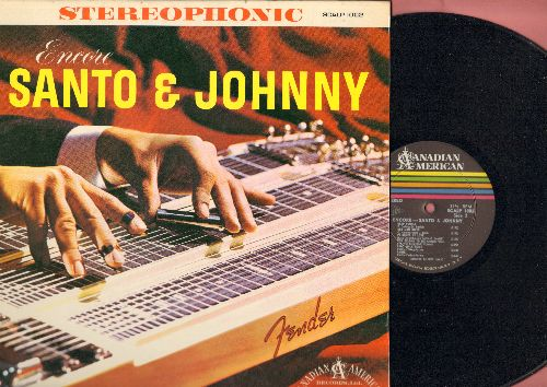 Santo & Johnny - Encore: Venus, Lazy Day, Teardrop, Deep Purple, You Belong To Me, Old Man River (vinyl LP record, RARE STEREO pressing, NICE condition!) - EX8/VG7 - LP Records