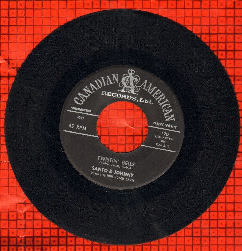 Santo & Johnny - Twistin' Bells/Bullseye  - EX8/ - 45 rpm Records