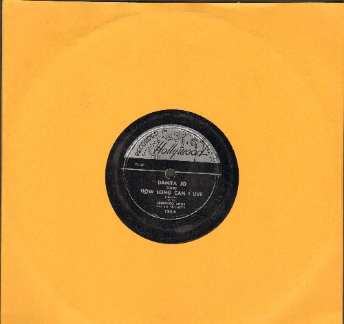 Damita Jo - How Long Can I Live/You Took My Heart (10 inch 78 rpm record) - EX8/ - 78 rpm