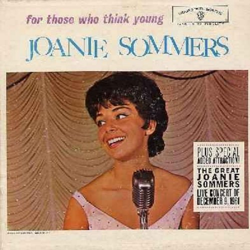 Sommers, Joanie - For Those Who Think Young: A Lot Of Livin' To Do, Hard Headed Hannah, Blues In The Night, I Feel Pretty, You Came A Long Way From St. Louis (vinyl MONO LP record) - NM9/VG7 - LP Records