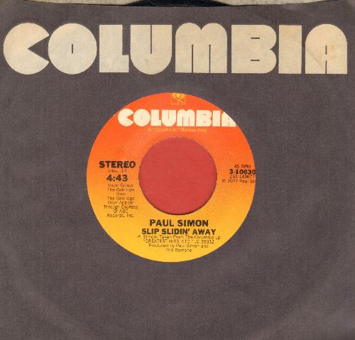 Simon, Paul - Slip Slidin' Away/Something So Right (with Columbia company sleeve) - NM9/ - 45 rpm Records