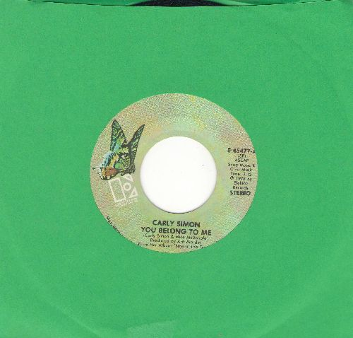 Simon, Carly - You Belong To Me/In A Small Moment - EX8/ - 45 rpm Records