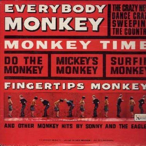 Sonny & The Eagles - Everybody Monkey: Mickey's Monkey, Surfin' Monkey, Monkey Business, Monkey See Monkey Do (vinyl MONO LP record) - NM9/EX8 - LP Records