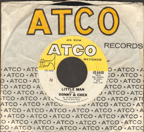 Sonny & Cher - Monday/Little Man (with Atco company sleeve) - EX8/ - 45 rpm Records