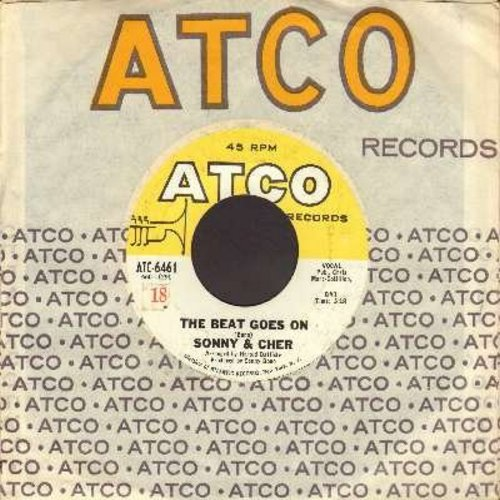Sonny & Cher - The Beat Goes On/Love Don't Come (with vintage Atco company sleeve) - VG7/ - 45 rpm Records
